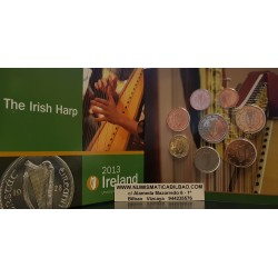 IRLANDA CARTERA OFICIAL EUROS 2013 SC 1+2+5+10+20+50 Centimos + 1+2 EUROS 2013 BU SET KMS THE IRISH ARP