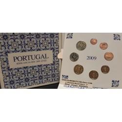 PORTUGAL CARTERA OFICIAL EUROS 2009 SC 1+2+5+10+20+50 CENTIMOS + 1 EURO + 2 EUROS 2009 @RARA@ BU SET KMS 8 MONEDAS