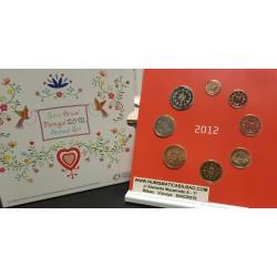 PORTUGAL CARTERA OFICIAL EUROS 2012 SC 1+2+5+10+20+50 CENTIMOS + 1 EURO + 2 EUROS 2012 BU SET KMS 8 MONEDAS