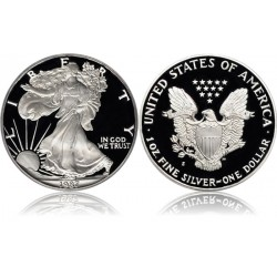 ESTADOS UNIDOS 1 DOLAR 1987 S EAGLE LIBERTY MONEDA DE PLATA @PROOF ESTUCHE OFICIAL US MINT@ $1 Dollar Coin ONZA OZ OUNCE