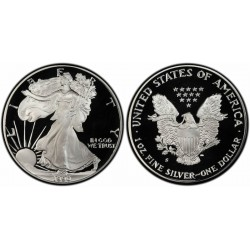 ESTADOS UNIDOS 1 DOLAR 1990 S EAGLE LIBERTY MONEDA DE PLATA @PROOF ESTUCHE OFICIAL US MINT@ $1 Dollar Coin ONZA OZ OUNCE