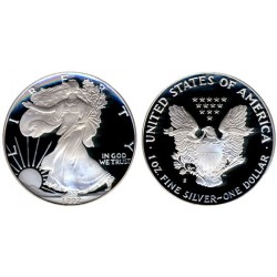 .ESTADOS UNIDOS 1 DOLAR 1992 S EAGLE PLATA Silver Proof Us Mint