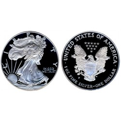 .ESTADOS UNIDOS 1 DOLAR 1996 S EAGLE PLATA Silver Proof Us Mint
