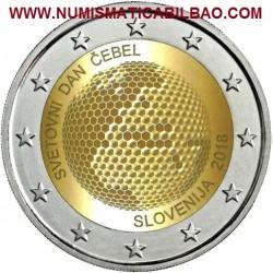 ESLOVENIA 2 EUROS 2018 DIA MUNDIAL DE LAS ABEJAS - PANAL SC MONEDA CONMEMORATIVA 2 Euro coin SLOVENIA