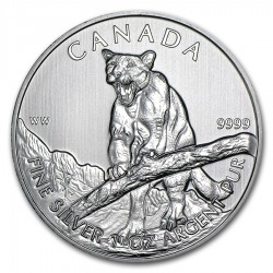 CANADA $5 DOLARES 2012 PUMA PLATA SC Silver Dollar 1oz