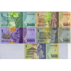 INDONESIA 1000+2000+5000+10000+20000 RUPIAS 2016 BAILARINES y PERSONAJES Pick NEW 5 BILLETES SC RUPIAH UNC BANKNOTE