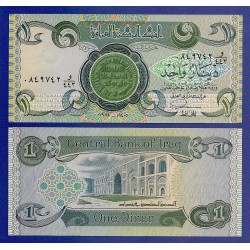 IRAK 1 DINAR 1984 ANTIGUA MONEDA y MEZQUITA Pick 69A BILLETE SC Iraq UNC BANKNOTE
