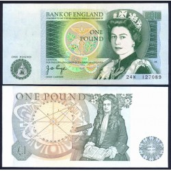 INGLATERRA 1 LIBRA 1978 REINA ISABEL II Firma PAGE Pick 377A BILLETE SC Great Britain UNC BANKNOTE United Kingdom £1 Pound