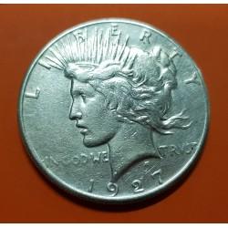 ESTADOS UNIDOS 1 DOLAR 1927 S PEACE PAZ KM.150 MONEDA DE PLATA MBC @ESCASO@ USA $1 Dollar silver coin