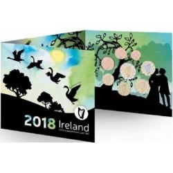IRLANDA CARTERA OFICIAL EUROS 2018 SC 1+2+5+10+20+50 Centimos + 1 EURO + 2 EUROS 2018 UNC BU SET Ireland Eire