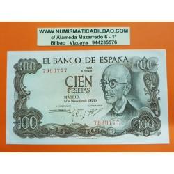 ESPAÑA 100 PESETAS 1970 MANUEL DE FALLA Sin Serie 7990777 Pick 152 BILLETE SC- @DOBLEZ@ Spain banknote
