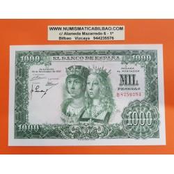 ESPAÑA 1000 PESETAS 1957 REYES CATOLICOS Serie B 8759294 Pick 149 BILLETE SIN CIRCULAR SC Spain banknote UNC