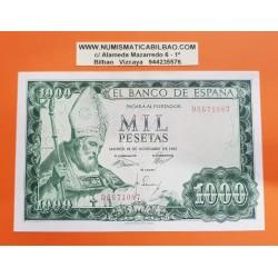 ESPAÑA 1000 PESETAS 1965 SAN ISIDORO SANTIAGO APOSTOL Serie D 6671087 Pick 151 BILLETE SC- @SIN CIRCULAR CON LEVE DOBLEZ@ Spain