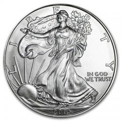 ESTADOS UNIDOS 1 DOLAR 2005 EAGLE LIBERTY MONEDA DE PLATA PURA SC $1 Dollar Coin USA UNITED STATES ONZA OZ OUNCE