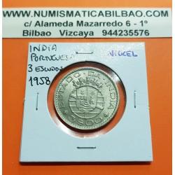 INDIA PORTUGUESA 1 RUPIA 1952 NICKEL EBC+ KM*29 PORTUGUESE
