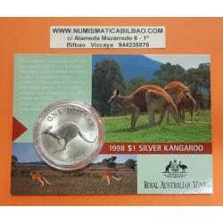 AUSTRALIA 1 DOLAR 1993 CANGURO PLATA Silver Blister Känguru $1