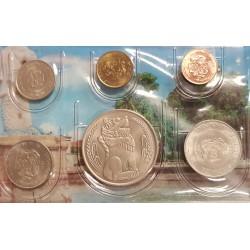 SINGAPUR @TIRA DE 6 MONEDAS@ 1+5+10+20+50 CENTAVOS 1985/1986/1987 + 1 DOLAR 1982 LEON Diseño TIPO 1 Singapore coin set