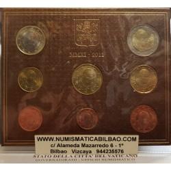VATICANO CARTERA OFICIAL EUROS 2011 BU SET PAPA BENEDICTO XVI 1+2+5+10+20+50 CENTIMOS 1 EURO + 2 EUROS 2011 SC Divisionale