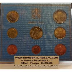 VATICANO CARTERA OFICIAL EUROS 2012 BU SET PAPA BENEDICTO XVI 1+2+5+10+20+50 CENTIMOS 1 EURO + 2 EUROS 2012 SC Divisionale