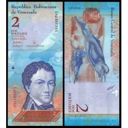 VENEZUELA 2 BOLIVARES 2007 SERIE C FRANCISCO DE MIRANDA GUSANO FLOR Pick 88 BILLETE SC UNC BANKNOTE