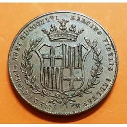 @ESCASA@ ESPAÑA Reina ISABEL II MEDALLA 1846 BARCELONA en su BODA CON FRANCISCO DE ASIS COBRE 6,40 gramos