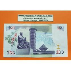 KENIA 100 SHILINGI 2010 RASCACIELOS y MZEE JOMO KENYATTA Pick 48 BILLETE EBC Kenya 100 Shillings