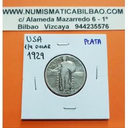 USA 1/4 DOLLAR 1928 STANDING LIBERTY VF SILVER QUARTER