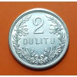 LITUANIA 2 DULITU 1925 CABALLERO MEDIEVAL KM.77 MONEDA DE PLATA SC Lithuania Lietuvos Respublika