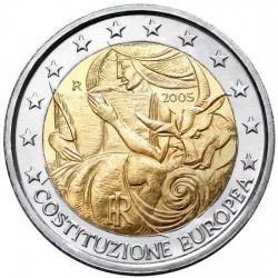 ITALYA 2 EUROS 2005 EUROPEAN CONSTITUTION UNC BIMETALLIC