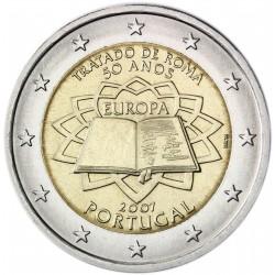 PORTUGAL 2 EUROS 2007 TEATRY OF ROME UNC BIMETALLIC
