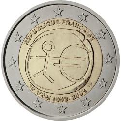 @2018 OFERTA@ FRANCIA 2 EUROS 2009 EMU 10th ANIVERSARIO y NACIMIENTO DEL EURO SC MONEDA CONMEMORATIVA BIMETALICA