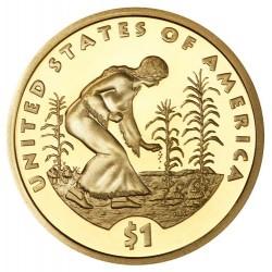 ESTADOS UNIDOS 1 DOLAR 2009 S INDIA SACAGAWEA KM.310 MONEDA DE LATON PROOF US $1 DOLLAR COIN