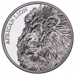 @1 ONZA 2018@ CHAD 5000 FRANCOS 2018 LEON AFRICANO MONEDA DE PLATA PURA SC Tchad OUNCE OZ African Lion 39mm CERTIFICADO