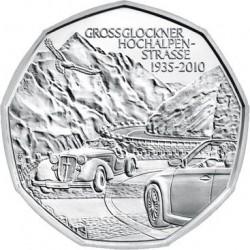 AUSTRIA 5 EUROS 2010 CARRERA DE COCHES CLASICOS EN LOS ALPES MONEDA DE PLATA SC Österreich silver euro