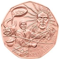 AUSTRIA 5 EUROS 2014 NAVIDAD y AÑO NUEVO MONEDA DE COBRE SC Österreich euro coin NEUJAHR