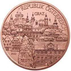 AUSTRIA 10 EUROS 2012 STEIERMARK Región de GRAZ MONEDA DE COBRE SC Österreich euro coin