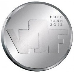 HOLANDA 5 EUROS 2012 ESCULTURA VJF PLATA SC NETHERLANDS