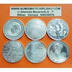 @6 MONEDAS@ ALEMANIA 10 EUROS 2003 Cecas A + D + F + G + J + NO CECA PLATA SC Germany BRD euro coins
