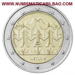 LITUANIA 2 EUROS 2018 FESTIVAL DE LA CANCION y LA DANZA SC MONEDA CONMEMORATIVA Lietuva Lithuania Euro coin