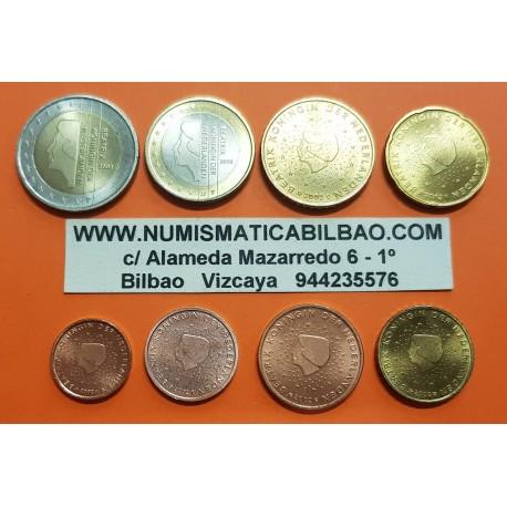 HOLANDA MONEDAS EURO 2002 SC 1+2+5+10+20+50 Centimos + 1 EURO + 2 EUROS 2002 REINA BEATRIZ The Netherlands @MANCHITAS@