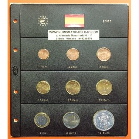 @OFERTA@ ESPAÑA MONEDAS EURO 2003 SC 1+2+5+10+20+50 Centimos 1+2 EUROS + 12 EUROS 2003 PLATA + HOJA DE PARDO