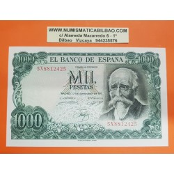 ESPAÑA 1000 PESETAS 1971 JOSE ECHEGARAY Serie 5X 8812425 Pick 154 BILLETE SC PLANCHA Spain UNC