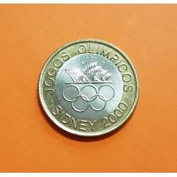 PORTUGAL 200 ESCUDOS 2000 JUEGOS OLIMPICOS DE SIDNEY KM.726 MONEDA BIMETALICA SC Portuguese coin