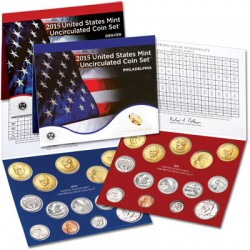2015 UNITED STATES MINT UNCIRCULATED COIN SET D+P 28 COINS ESTADOS UNIDOS 1+5+10+25 CENTAVOS + 1/2 DOLAR + 1 DOLAR PRESIDENTES