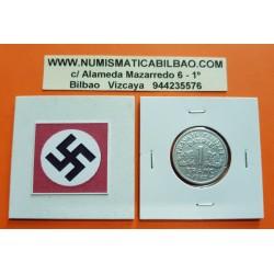 FRANCIA 1 FRANCO 1942 BAZOR Gobierno de VICHY KM.902.1 MONEDA DE ALUMINIO OCUPACION NAZI III REICH NAZI WWII France