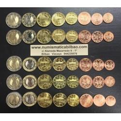 ALEMANIA MONEDAS EURO 2005 SC 1+2+5+10+20+50 Centimos + 1 EURO + 2 EUROS 2005 Letras A+D+F+G+J Germany coins