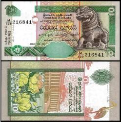 SRI LANKA 10 RUPIAS 2004 LEON DE TEMPLO BUDISTA Pick 115 C BILLETE SC UNC BANKNOTE 10 Rupees CEYLON