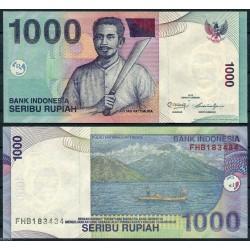 INDONESIA 1000 RUPIAS 2013 NATIVO JUNCO PESCA Pick 141 BILLETE SC 1000 Rupees UNC BANKNOTE