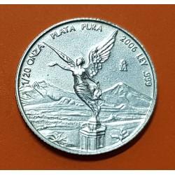 MEXICO 1/20 DE ONZA 1996 ANGEL ALADO LIBERTAD KM.609 MONEDA DE PLATA PURA SC Mejico silver OZ OUNCE