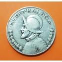 PANAMA 1/2 BALBOA 1947 VASCO NUÑEZ DE BALBOA KM.12 MONEDA DE PLATA MBC silver coin Medio Balboa 1947 DISEÑO TIPO 1